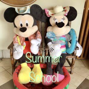 夏仕様のミッキー&ミニーがお出迎え♪